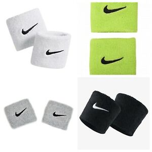 Nike Swoosh Set of 2 Wristbands Brand New 12 Different Colors To Choose From