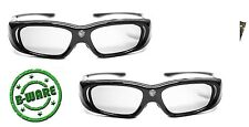 2x 3D Brille Hi-SHOCK® DLP Pro 6G Black Space für Beamer Optoma HD141X | B-Ware