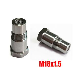 2Pcs O2 Oxygen Sensor 90° Sensor Extension Spacer M18x1.5 Eliminates CEL Fault