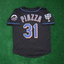 Mike Piazza New York Mets 2000 World Series Alt Black Men's (M-2XL) Jersey