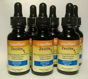 2 Bottles Liquified Zeolite Natural Liquid Detox 1 Oz