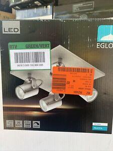 Eglo Lighting 95744A Praceta - 10.25 Inch 20W 4 LED Sqaure Track Light free ship