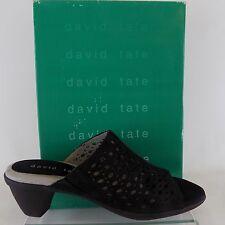 DAVID TATE VIRGINIA BLACK SLIP ON SANDALS  7.5 M/B AL894