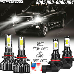 For Dodge RAM 1500 2500 3500 2013 2014 2015 LED Headlight Bulbs High/Low Beam