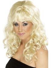1960s RUCHE beauté Perruque de FEMMES Déguisement années 60 Groovy blonde Bouclé