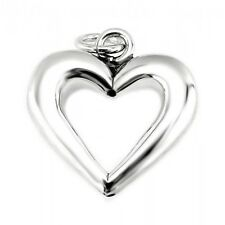 Sterling Silver Hollow Heart Pendant