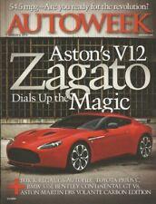AUTOWEEK 2012 MAR 05 - REGAL GS, ZAGATO 12, BMW 335i, VOLANTE CARBON Ed, FJ40*