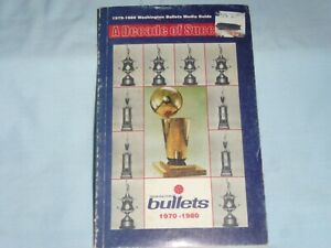 WASHINGTON BULLETS 1979-1980  Media Guide YEARBOOK  excellent condition