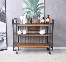 BAR Car Loft Serving Cart Dinett Tea Trolley Mini Drinks Cabinet Wine Rack