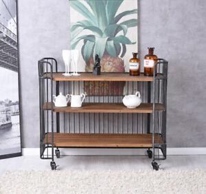 BAR Car Loft Serving Cart Dinett Tea Trolley Mini Drinks Cabinet Wine Rack