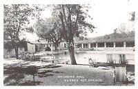 California Ca Postcard Real Photo RPPC c1940s WARNER SPRINGS Swimming Pool