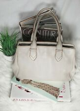 Cole Haan Leather Purse Ivory Satchel Large