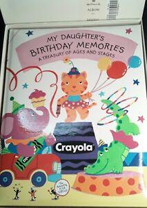 NIB! Hallmark My Daughter's Birthday Memories Hard Cover Album Crayola