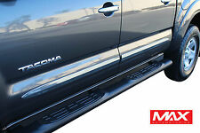 BSTO610 2005-2015 Toyota Tacoma Crew Cab Chrome Side Door Body Molding Trim 2""