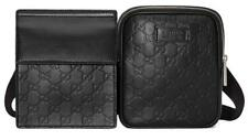 La nueva firma de GG Gucci Negro de cuero correa de dos Bolsa Bolsa Fanny Pack 100% Auténtico