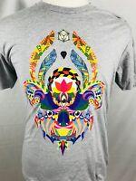 Pyschadelic Bear T Shirt Mens Size Medium Next Level Hippie Hipster (F