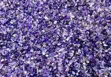 MINI AMETHYST Chips 3-9mm semi-tumbled 1/2 lb bulk stones quartz