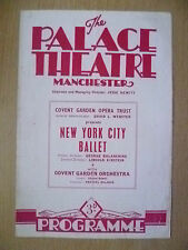 Palace Theatre Programe 1950- NEW YORK CITY BALLET- MULTI PROGRAMME