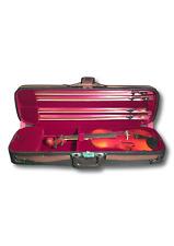*BARGAIN* Deluxe 4/4 violin hard case four bow holder felt Rosin rest space UK