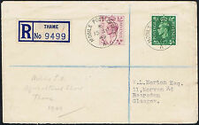 1949 Thame Agricultural Show Mobile Post Office 6d and 1/2d Registered.