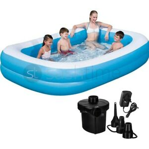 """Inflatable Paddling Pool Garden Kids Fun Toys Family Swimming Pools Outdoor 103"""""""