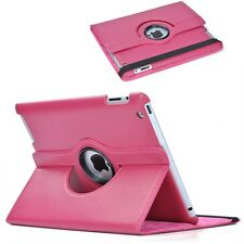 360 gradi rotazione PELLE SMART STAND CASE COVER PER APPLE IPAD 2 3 4-Rosa