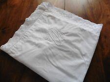 ANCIENNE taie d oreiller pur coton dentelle Dessin dans l angle 72x72