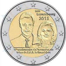 Luxemburg I 2015 - 2 euromunt - Groothertog Henri 15 jaar Troonsbestijging - UNC