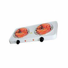 New listing MegaChef Electric Portable Lightweight Dual Coil Burner Cooktop Buffet Range