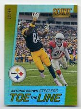 2016 Score ANTONIO BROWN #1 Toe GOLD ZONE PARALLEL CARD #/99 Pittsburgh Steelers