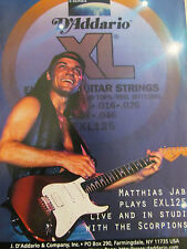 The Scorpions, Matthias Jabs, D'Addario Strings Full Page Vintage Promotional Ad
