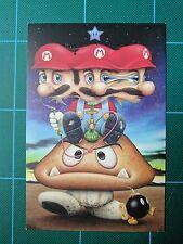 Super Mario Mushroom Art Scott Schiedly Psychedelic Print Goomba Nes Video Game