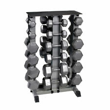 Body Power 5-30Kg Hex Dumbbell Set & Storage Rack