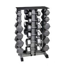 Body Power 5-30Kg Hex Dumbbell Set & Rack
