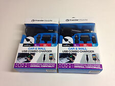 Premier Mobile PUNIACDC USB Car & Wall Charger Multi-Tips (2 Sets)
