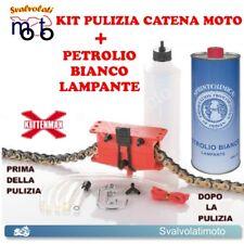 KIT PULISCI PULIZIA CATENA MOTO PROFESSIONALE KETTENMAX + PETROLIO BIANCO 1LT