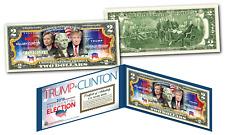 2016 PRESIDENT - DONALD TRUMP vs HILLARY CLINTON Combo U.S. Legal Tender $2 Bill