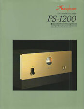 Accuphase PS-1200 Katalog Prospekt Catalogue Datasheet Brochure