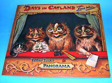 Louis Wain Days In Catland Father Tuck's Panarama Inter-active Folding Pic Book.