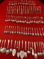 100 Pieces Vintage Silverplate Flatware Lot for Crafts, Art Projects and Jewelry