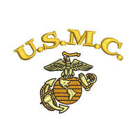 USMC Marines EMBROIDERED Polo Shirt ARMY Military OOHRAH MARINE CORPS EMBROIDERY