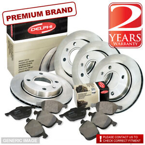 Brake Discs Vented Vauxhall Insignia 2.8 V6 Turbo 4x4 Rear Delphi Brake Pads