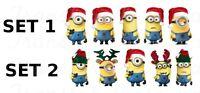 Stickers pour ongles moi moche et méchant manucure Noël Santa Christmas