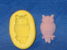 Owl Silicone Push Mold For Resin Clay Candy Food Safe #587 Sugarcraft Bookscrap