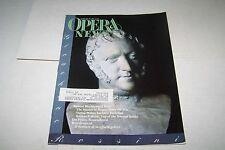 FEB 29 1992 OPERA NEWS vintage music magazine