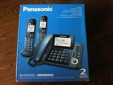 New Panasonic Kx-Tgf352Cm 2-Handset Digital Corded / Cordless Home Phone - Black