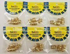 Rast Afri-Tube Dread Lock Metal Cuffs for Braiding Hair Locks Bead  6packs