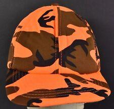 Orange Neon Camouflage Hunting Safety baseball hat cap adjustable snapback