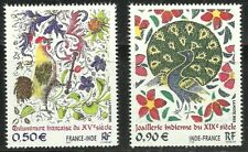 France 2003 Joint Issue with India 2v MNH, rooster, peacock, birds