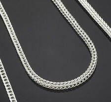 """1PCS 18 inch 925 Sterling silver plating """"FOX TAIL"""" Chain Necklaces"""